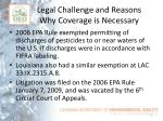 legal challenge and reasons why coverage is necessary