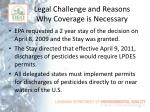 legal challenge and reasons why coverage is necessary1