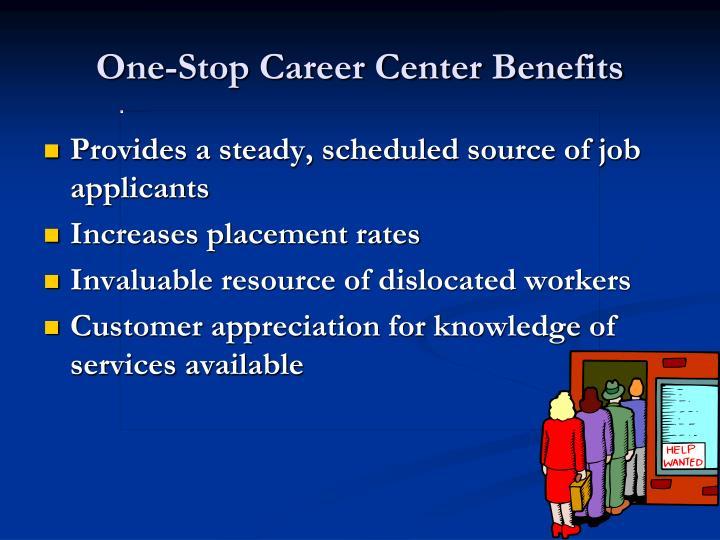 One-Stop Career Center Benefits