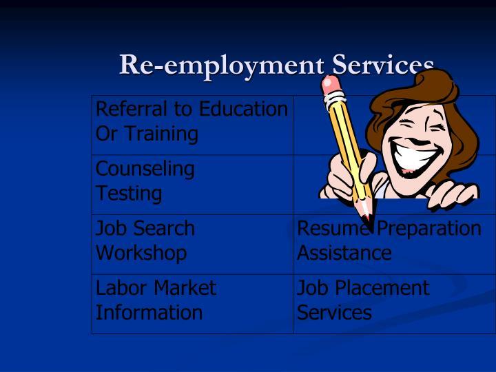 Re-employment Services