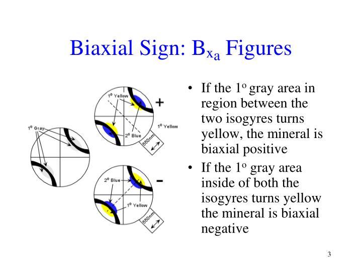 Biaxial Sign: B