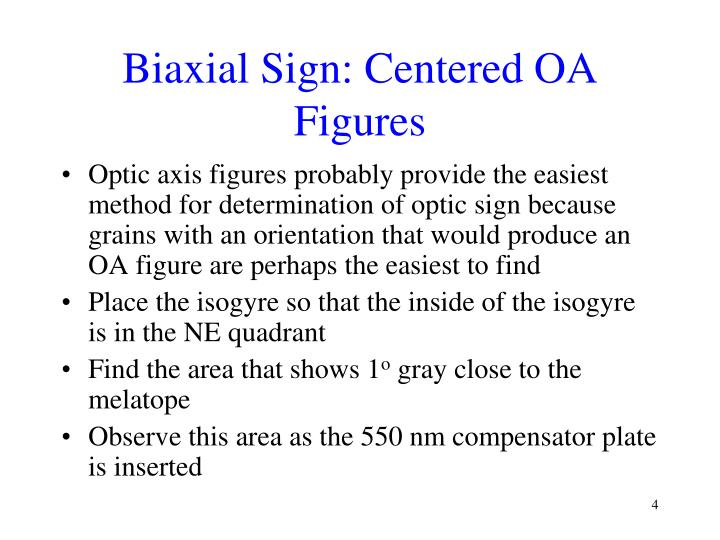 Biaxial Sign: Centered OA Figures