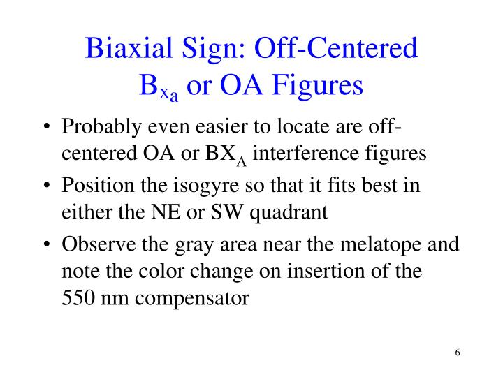 Biaxial Sign: Off-Centered