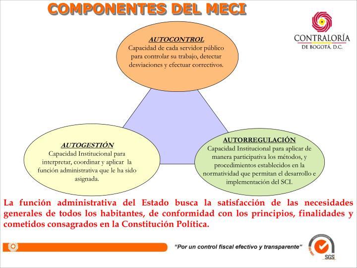 COMPONENTES DEL MECI