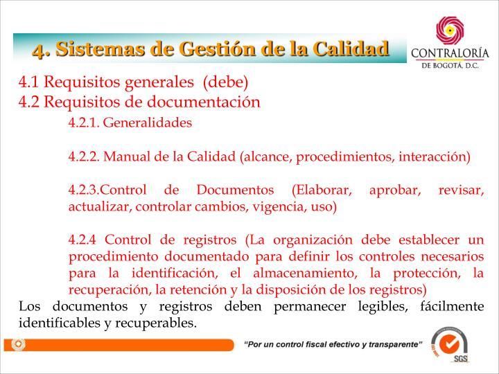 4. Sistemas de Gestión de la Calidad