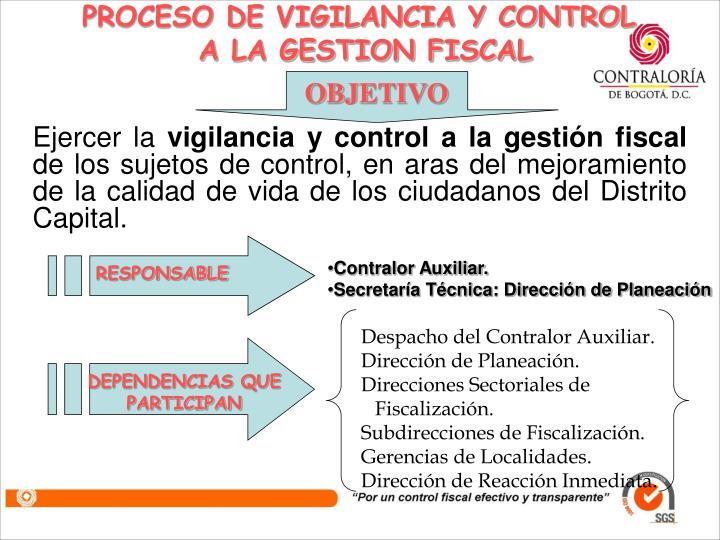 PROCESO DE VIGILANCIA Y CONTROL