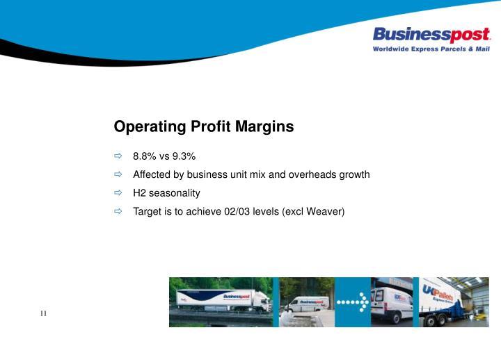 Operating Profit Margins