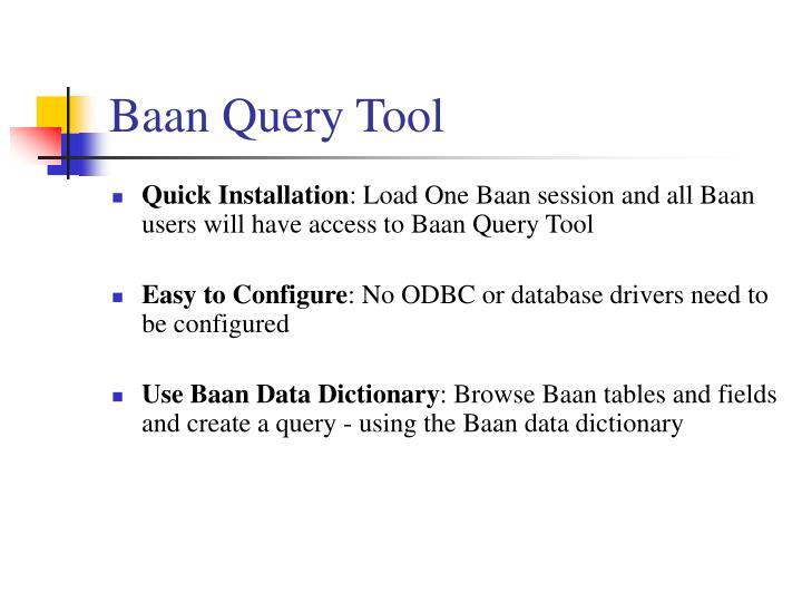 Baan Query Tool