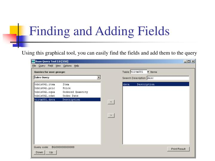 Finding and Adding Fields
