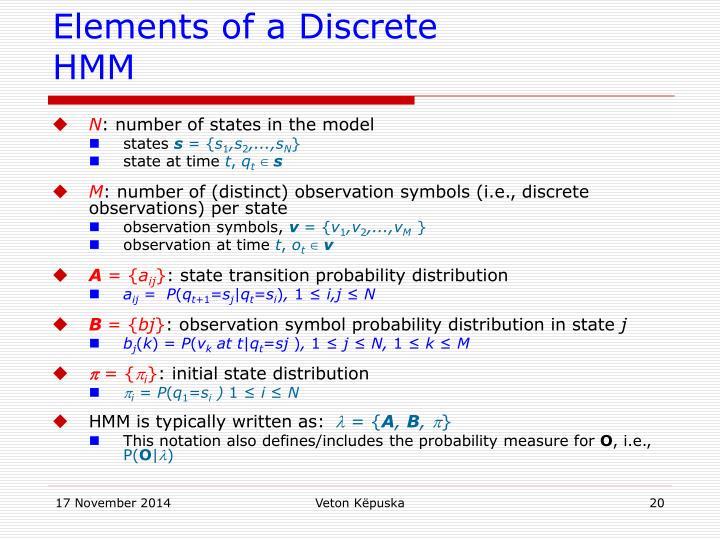 Elements of a Discrete