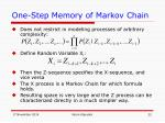 one step memory of markov chain