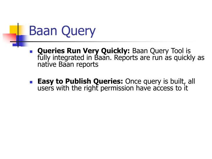 Baan Query
