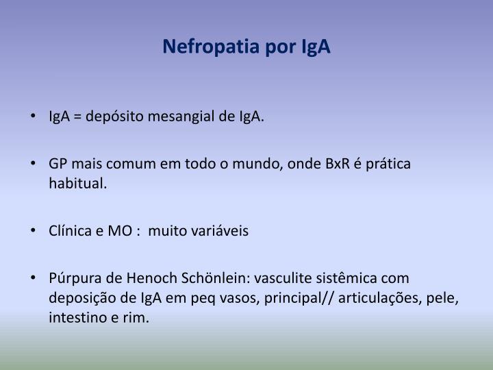 Nefropatia por IgA