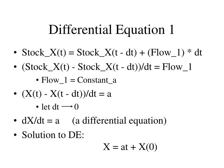 Differential Equation 1