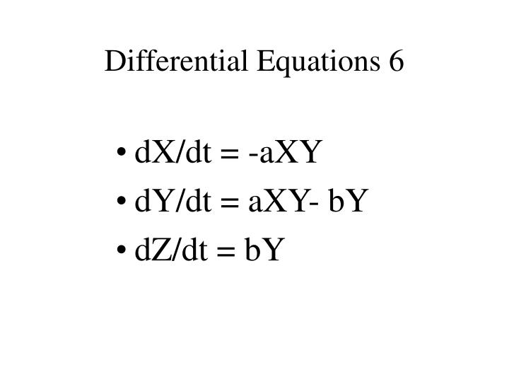 Differential Equations 6