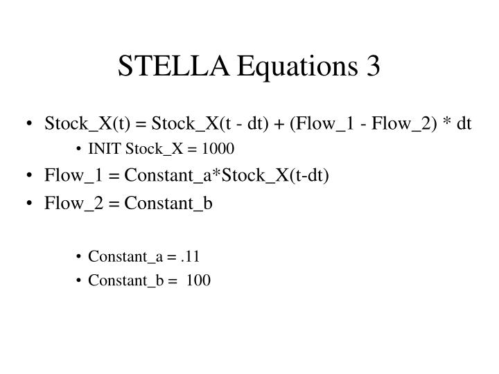STELLA Equations 3