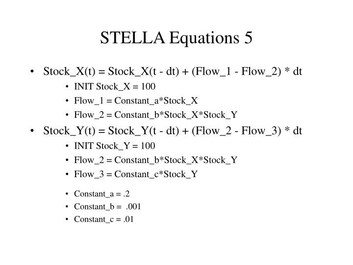 STELLA Equations 5