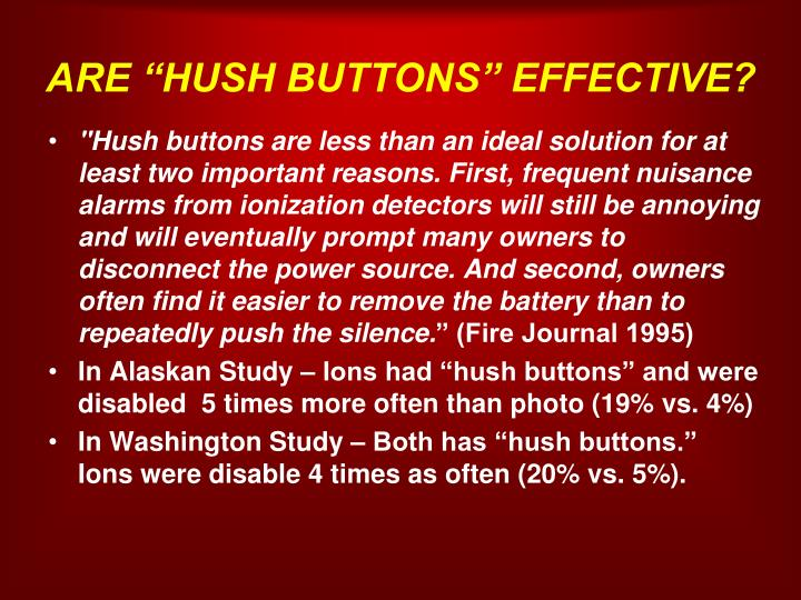 """ARE """"HUSH BUTTONS"""" EFFECTIVE?"""