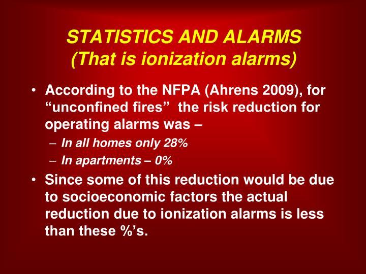 STATISTICS AND ALARMS