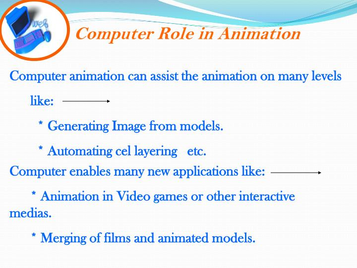 Computer Role in Animation