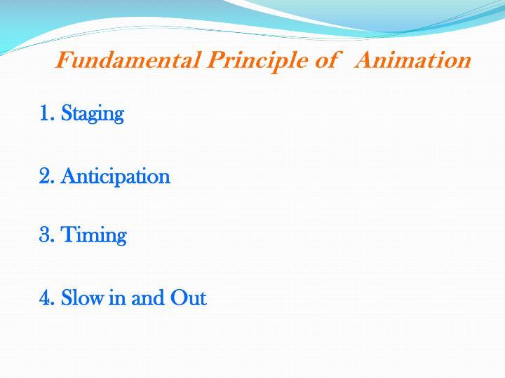 Fundamental Principle of  Animation