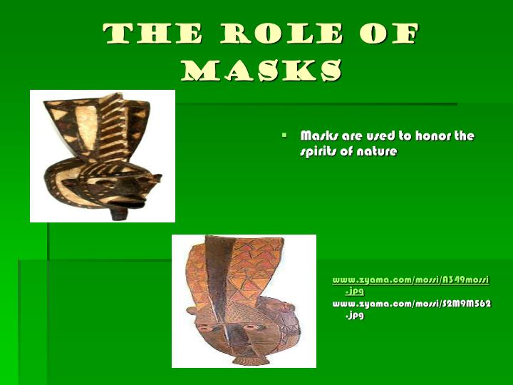 The role of masks