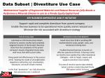 data subset divestiture use case