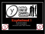 explained by myriam roberts a byc campaigner and youth action team member