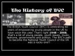 the history of byc