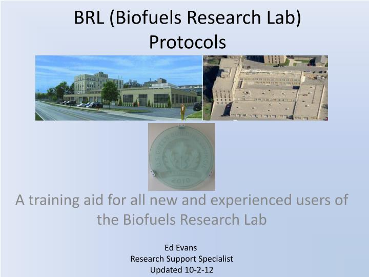 brl biofuels research lab protocols