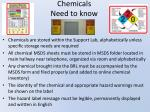 chemicals need to know