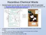 hazardous chemical waste