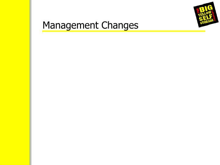 Management Changes