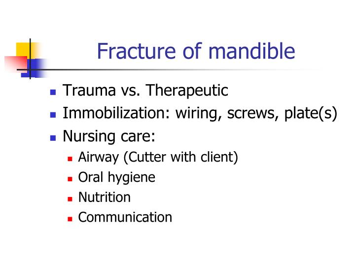 Fracture of mandible