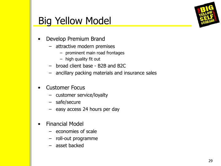 Big Yellow Model