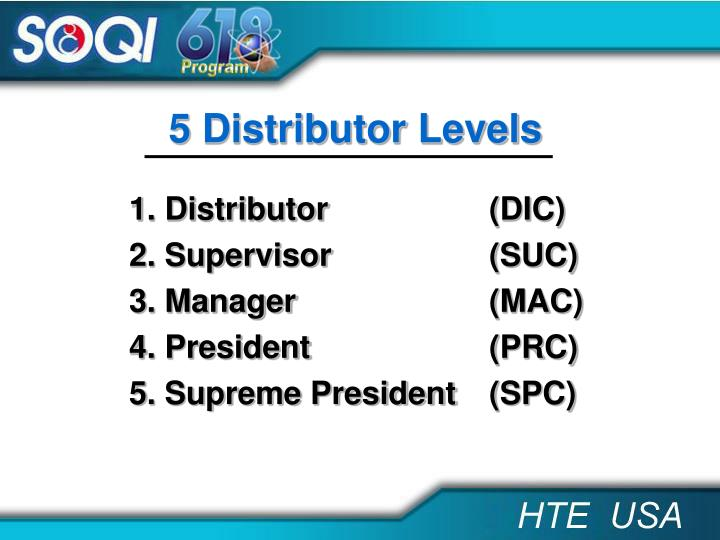 5 Distributor Levels