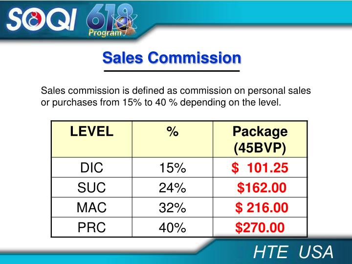 Sales Commission