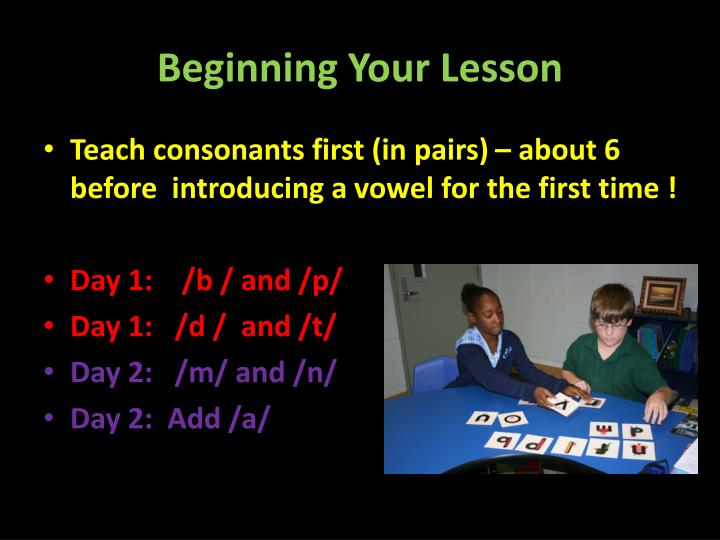 Beginning Your Lesson