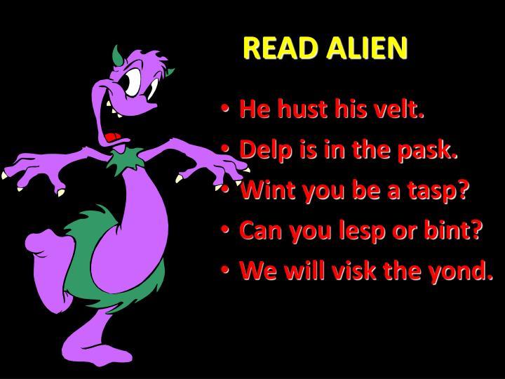 READ ALIEN