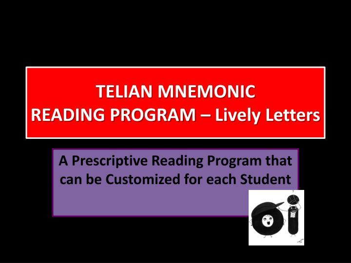 TELIAN MNEMONIC
