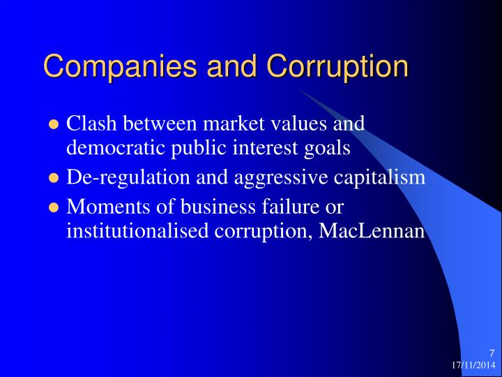 Companies and Corruption