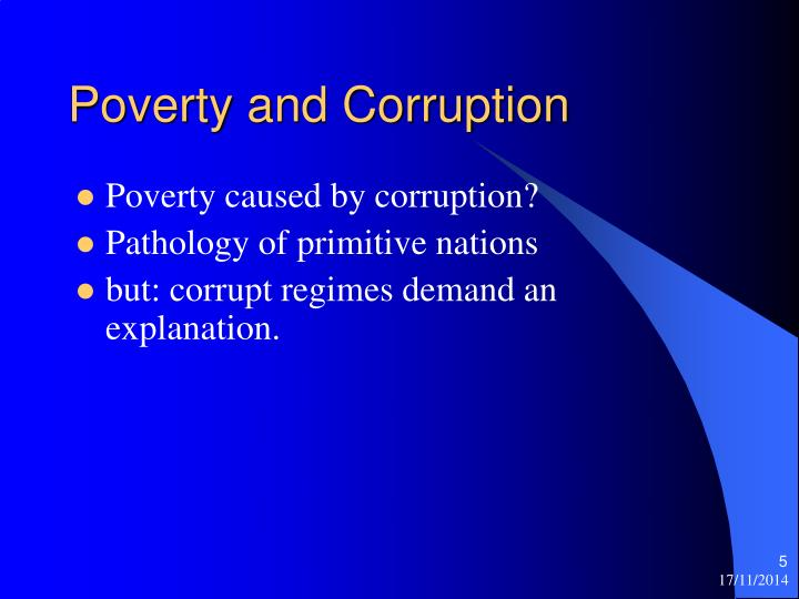 Poverty and Corruption