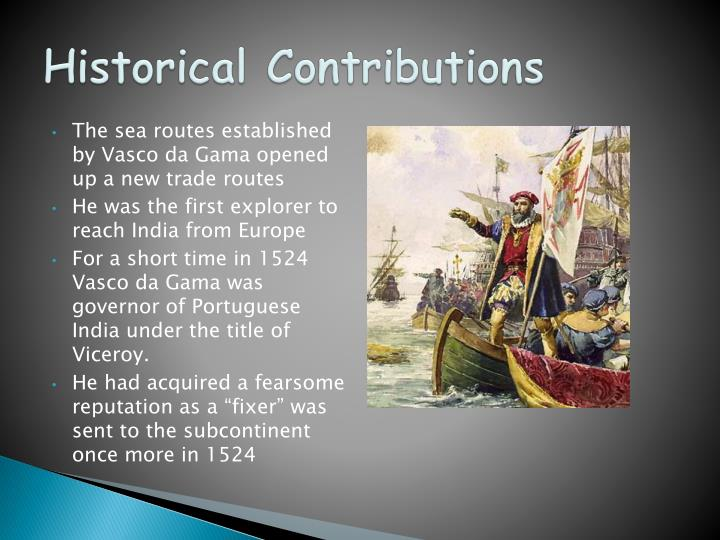 Historical Contributions