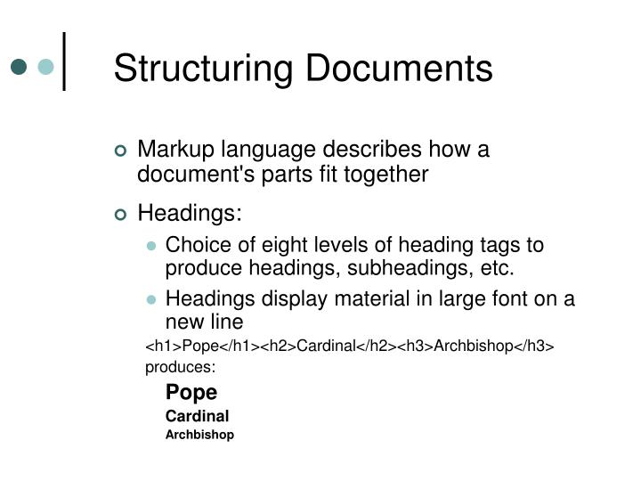 Structuring Documents