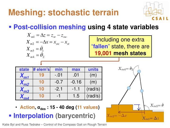Meshing: stochastic terrain