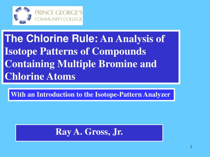 The Chlorine Rule: