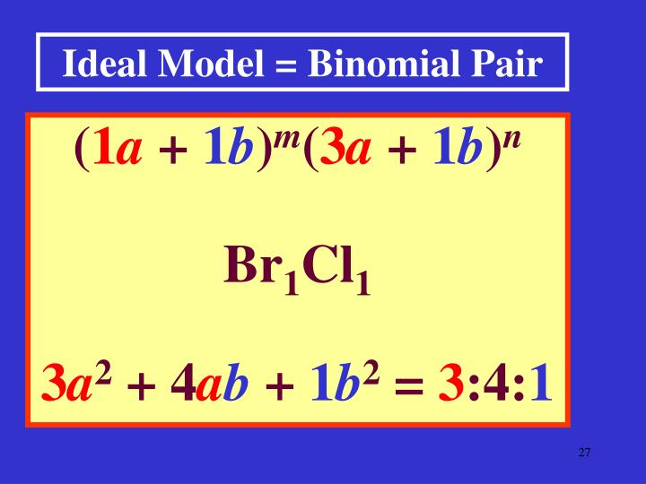 Ideal Model = Binomial Pair