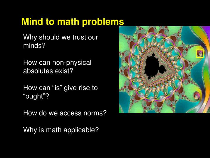 Mind to math problems