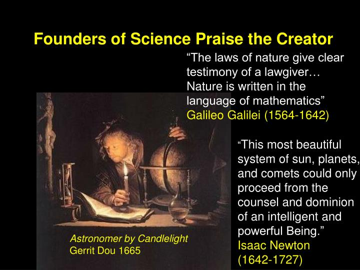 Founders of Science Praise the Creator