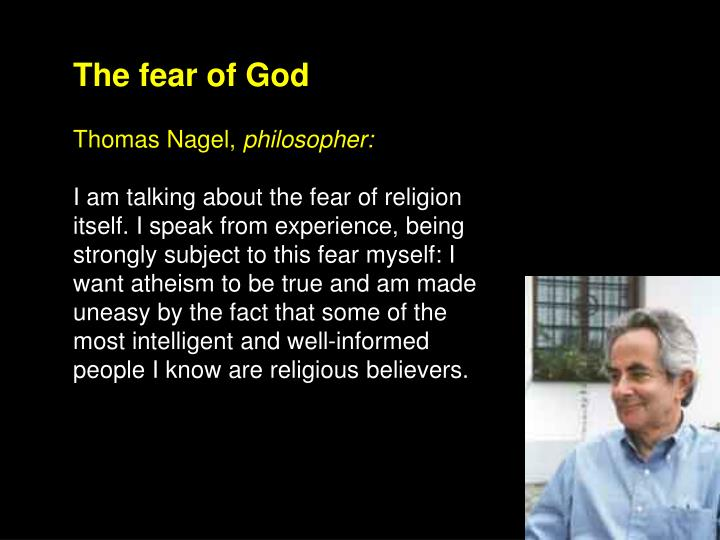 The fear of God
